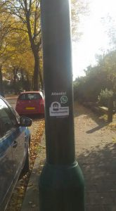 Sticker in zicht